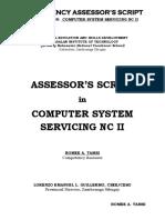 Assessors Script CSS NC II