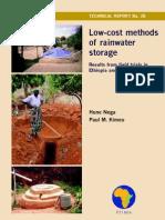 TR28-Low Cost Methods of Rainwater STORAGE