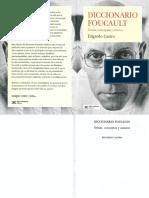 Diccionario Foucault