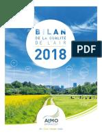 Bilan de la qualité de l'air 2018 dans le Grand Est