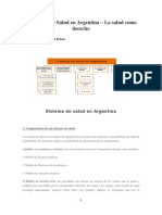 El sistema de salud en Argentina