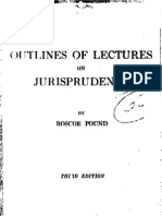 Pound - Outlines of Lectures on Jurisprudence