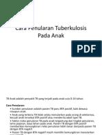 Cara Penularan Tuberkulosis Pada Anak