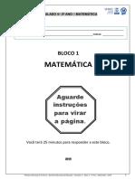 Simulado de matemática