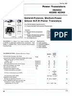 Datasheet of RCA power transistor 40389