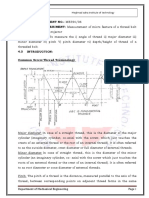 6.Measurement of micro feature of a product ( thread of a bolt) in a profile projector Metrology  MeasurementLab_ME594.doc