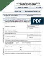 Lista de Chequeo Para Verificación