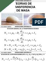 2.3 - Teorias de Transferencia de Masa