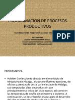 Programación de Procesos Productivos