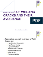 Causes of Welding Cracks and Their Avoidance