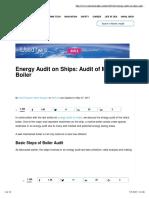 Audit of Marine Boiler