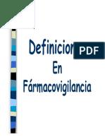 Definiciones Farmacovigilancia Graf
