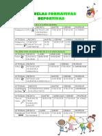 ESCUELAS FORMATIVAS DEPORTIVAS