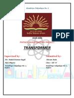 Transformer- XII B Physics Shivam Beda Investigatory