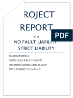 No Fault liability and Strict liability