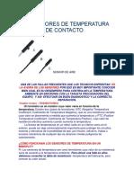 Los Sensores de Temperatura de Aire y de Contacto