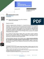 Pavimentación El Tambo. Respuesta Petición Intervención Proyecto BPIN 2017000030015