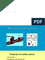 Properties of Cardiac Muslce and Comparison of Muslce