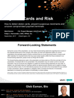 Payment Cards and Risk How to Detect Stolen Cards Pinpoint Suspicious Merchants and Uncover Compromised Payment Terminals