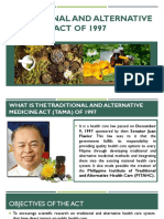 Traditional and Alternative Medicine Act of 1997