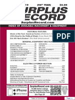 NOVEMBER 2019 Surplus Record Machinery & Equipment Directory