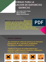 NORMAS PARA LA MANIPULACION DE SUSTANCIAS QUIMICAS.pptx