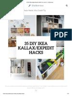 35 DIY IKEA Kallax Shelves Hacks You Could Try - Shelterness