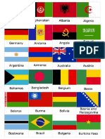 Printable Memory Game Countries Flags