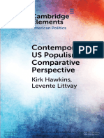 Contemporary US populism in comparative perspective
