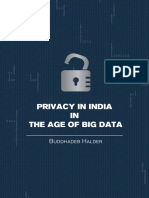 Privacy in India in the Age of Big Data