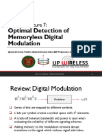 Ece141 Lec07 Optimal Detection of Memoryless Digital Modulation