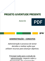 Projeto Juventude Presente - Aula 01