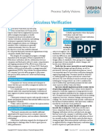 PROCESS SAFETY METICULOUS VERFICATION