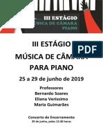 III Estágio Música de Câmara Piano