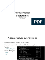 Subroutine MSC Adams