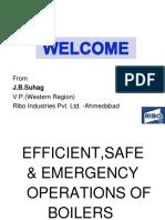 BOILER EFFICIENT , SAFE & EMERGENCY OPERATION.ppt