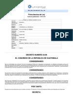 Ley - Ley Del Fondo de Tierras, Decreto 24-99-16!06!1999.