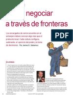 como negociar a través de las fronteras