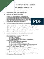 Campaign Finance Agenda.10.14.19