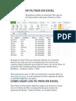 Filtros Excel