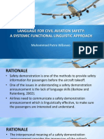 Language for Civil Aviation Safety