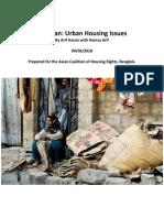 Pakistan Urban Housing Issues 180925