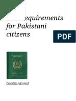 Visa Requirements for Pakistani Citizens - Wikipedia