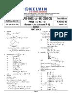 SOL. APEX-ENGG. (A - 01) Ph.T.No.1 (Jee.Adv. P- II) 18.08.2019