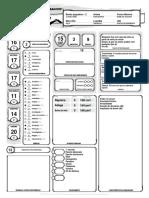 D&D 5E - Ficha de Bardo Lvl 2