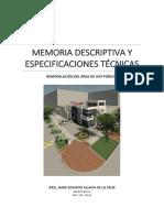 Hdn_memoria y Especificaciones_remodelación Área Uso Púlico v2