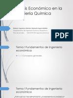 Análisis Económico en La Ingeniería Química