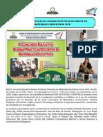Boletín de Buenas Practicas Docentes en Materiales Educativos 2018