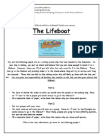 The Lifeboat Activity