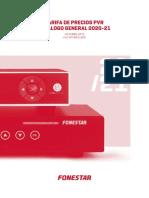 201909 Fonestar Tarifa Precios Pvr 2019-21
